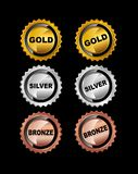 Set of Medals. Royalty Free Stock Image