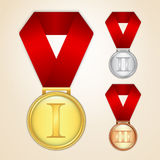 Set of medals Royalty Free Stock Photo
