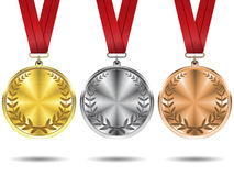 Set of medals. Royalty Free Stock Photography
