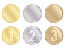 Set of medals Royalty Free Stock Image