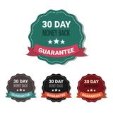 Set Of Medals Money Back In 30 Days Guarantee Stickers Collection Isolated. Vector Illustration Royalty Free Stock Photos