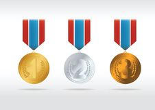Set of medals. Vector Royalty Free Stock Photo