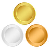 Set of medals. On a white background Royalty Free Stock Images