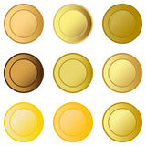 Set  medals Stock Images