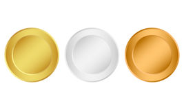 Set of medals Royalty Free Stock Photos