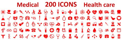 Set Medecine and Health flat icons. Collection health care medical icons. – stock Royalty Free Stock Images