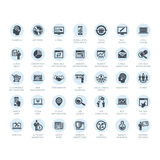 Set of media and advertising icons. Set of business icons for media and advertising Stock Image
