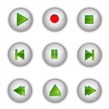 Set of media buttons. And vector illustration Vector Illustration