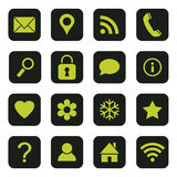 Set of media and communication vector icons Royalty Free Stock Photos