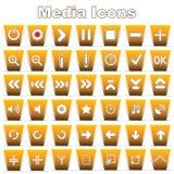 Set of Media icons Stock Photo