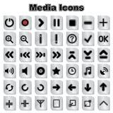 Set of Media icons Royalty Free Stock Photo