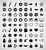 Set of media icons Royalty Free Stock Photos