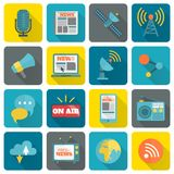 Set of media icons Stock Image
