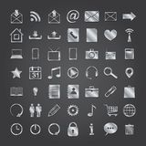 Set of media icons. Set of 50 metal media icons. vector eps10 Vector Illustration