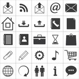Set of media icons. Set of 25 media icons. vector eps8 Stock Photo