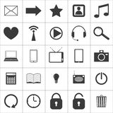 Set of media icons. Set of 25 media icons. vector eps8 Stock Photography