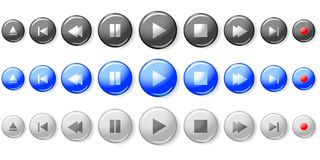 Set of media player buttons Royalty Free Stock Photos