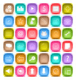 Set of media social icon Stock Images