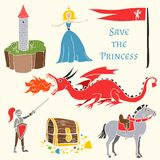 Set of mediavels tale persons. Set of fairy tale persons Royalty Free Stock Photography