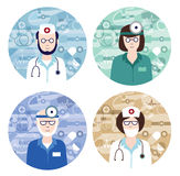 Set of medical avatars Royalty Free Stock Photos