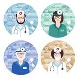 Set of medical avatars Royalty Free Stock Photos