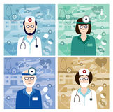 Set of medical avatars Stock Photo