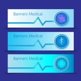 Set of Medical Banners vector illustration. EPS 10. Set of Medical Banners.background vector illustration. EPS 10 Stock Images