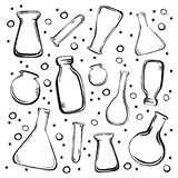 Set medical bottles and flasks vector illustration
