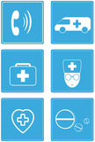 Set medical button Stock Photos