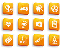 Set of medical buttons Royalty Free Stock Images
