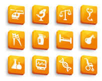Set of medical buttons Stock Photo