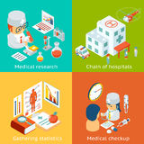 Set of medical care vector concepts Royalty Free Stock Photography