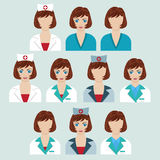 Set of medical characters. Stock Image