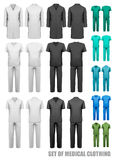 Set of medical clothes. Design template. Stock Image
