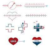 Set of medical creative icons Stock Photos