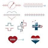 Set of medical creative icons Stock Photos