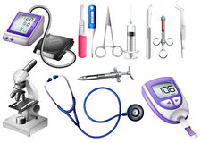 Set of medical equipment Royalty Free Stock Images