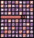 Set of medical flat icons Royalty Free Stock Photo