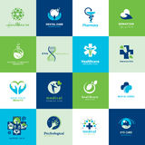 Set of medical flat icons Royalty Free Stock Image