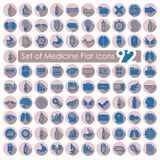 Set of medical flat icons Stock Photography