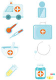 Set of medical and health icons Royalty Free Stock Photo