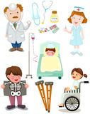 Set of medical hospital set Royalty Free Stock Photography