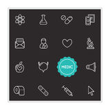 Set of Medical Hospital Vector Illustration Elements can be used Royalty Free Stock Image