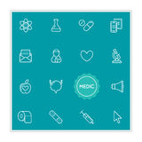 Set of Medical Hospital Vector Illustration Elements can be used Royalty Free Stock Photography
