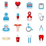 Set of Medical Icon. Illustration of set of medical icon on plane white background Stock Image