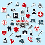 Set of medical icon stickers Stock Photo