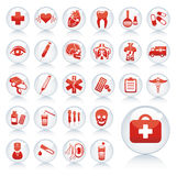 Set of medical icons. Stock Photos