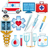 Set of medical icons Stock Photography