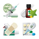 Set of medical icons Stock Images