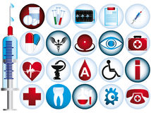 Set of medical icons. Vector illustration Stock Images